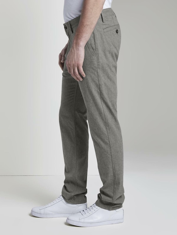 TOM TAILOR Chinohose 'Travis' in grau: Frontalansicht