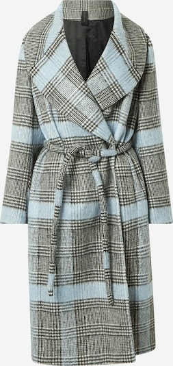 DRYKORN Mantel 'CRANBROOK' in hellblau / schwarz / weiß, Produktansicht