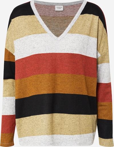 JACQUELINE de YONG T-shirt 'JDYTONSY L/S V-NECK TOP JRS RPT' en mélange de couleurs, Vue avec produit