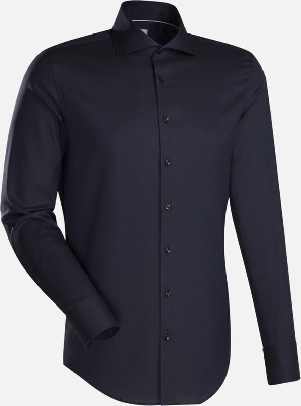 Jacques Britt City-Hemd ' Slim Fit ' in schwarz  Freizeit, schlank, schlank