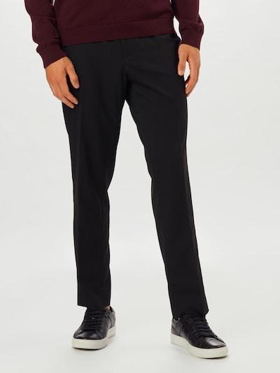 BURTON MENSWEAR LONDON Bügelfaltenhose in schwarz, Modelansicht
