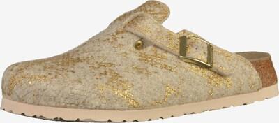 PAPILLIO Clogs 'Boston' in beige / gold, Produktansicht