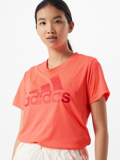 ADIDAS PERFORMANCE T-Shirt in orange: Frontalansicht