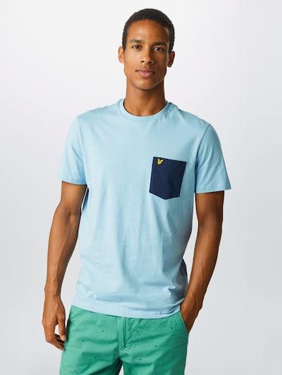 Tricou 'Contrast Pocket' Lyle & Scott pe albastru / navy / galben: Privire frontală