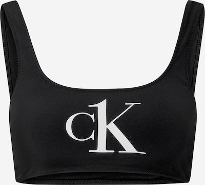 Sutien costum de baie Calvin Klein Swimwear pe negru, Vizualizare produs