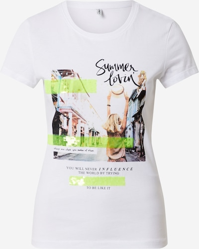 ONLY T-shirt 'NANNA' en blanc, Vue avec produit