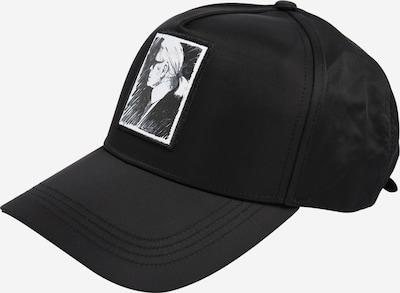 Karl Lagerfeld Pet 'karl legend cap' in de kleur Zwart / Wit, Productweergave