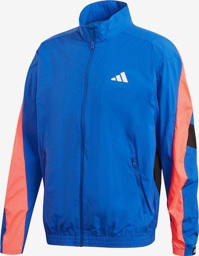 ADIDAS PERFORMANCE Sportjas 'Urban' in de kleur Blauw / Koraal / Zwart / Wit, Productweergave