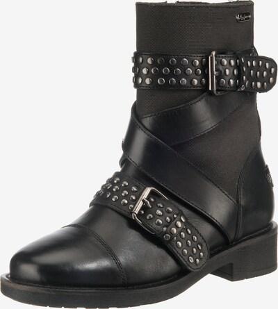 Pepe Jeans Biker Boots 'MADDOX STUDS' in schwarz: Frontalansicht