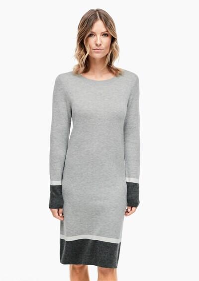 s.Oliver Kleid in grau / anthrazit / weiß, Modelansicht