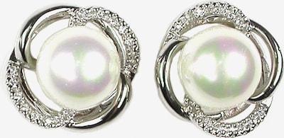 Orquidea Perlenohrringe 'Irene' in silber / weiß, Produktansicht