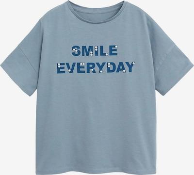 MANGO KIDS T-Shirt 'VIBES' in marine / taubenblau, Produktansicht