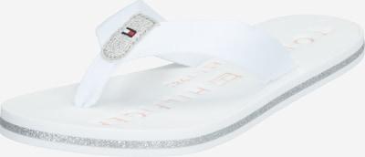 TOMMY HILFIGER Japonke 'TH GLITTER FLAT BEACH SANDAL' | bela barva, Prikaz izdelka
