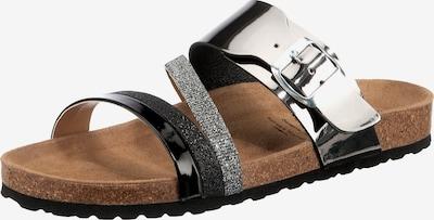 LICO Pantolette 'Bioline Fashion' in grau / silber, Produktansicht