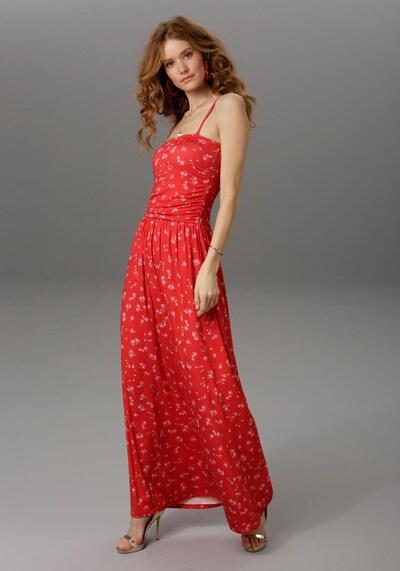 Aniston CASUAL Kleid in rot / weiß, Produktansicht
