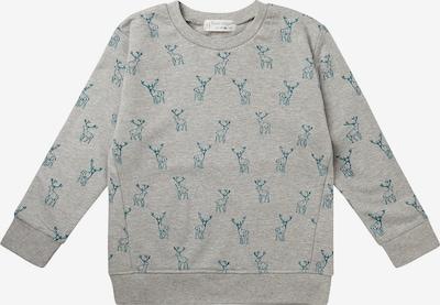 Sense Organics Sweatshirt 'Finn' in graumeliert / petrol, Produktansicht