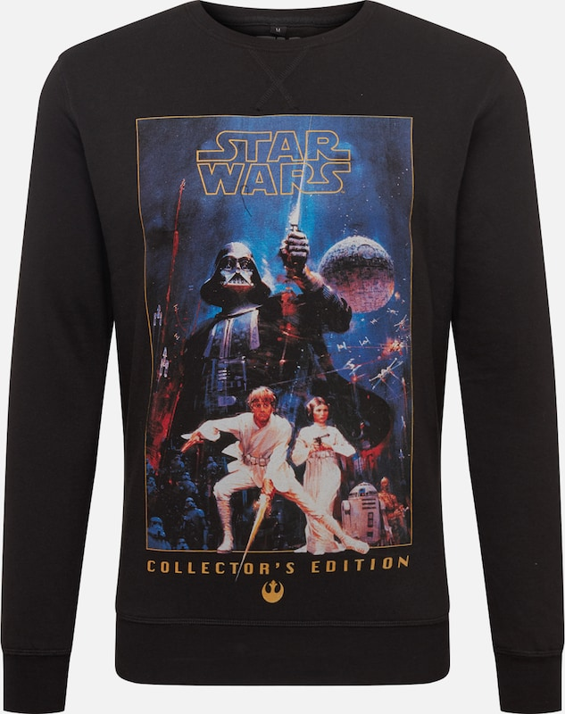 Mister Tee Shirt 'Star Wars Poster Collectors Edition Crewneck' in de kleur Blauw / Zwart, Productweergave