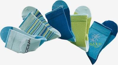 HIS JEANS Socken (5 Paar) in türkis / kiwi / weiß, Produktansicht