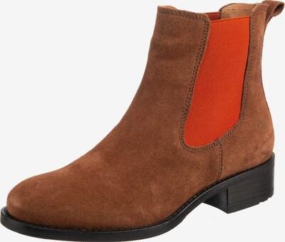 Apple of Eden Boots 'Gaby' in braun / feuerrot / schwarz, Produktansicht