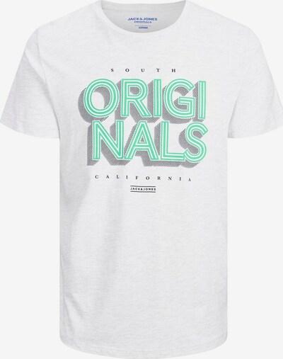 JACK & JONES Logoprint Plus size T-shirt in weiß, Produktansicht