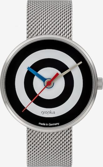 WALTER GROPIUS Uhr in schwarz / silber / weiß, Produktansicht
