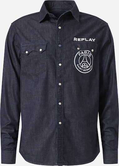 Marškiniai iš REPLAY , spalva - tamsiai mėlyna, Prekių apžvalga