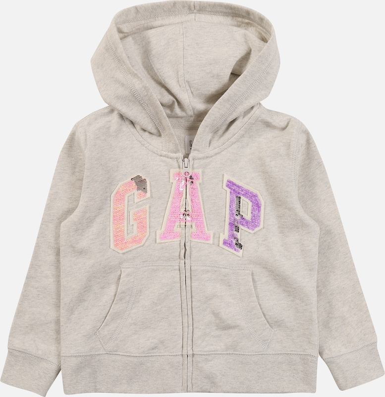 GAP Sweatjacke  'FLIPPY' in grau, Produktansicht