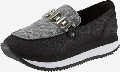 heine Slipper in grau / schwarz / silber, Produktansicht