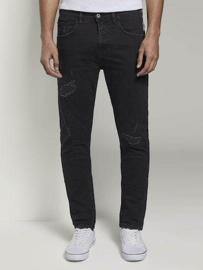 TOM TAILOR DENIM Jeans in black denim, Modelansicht