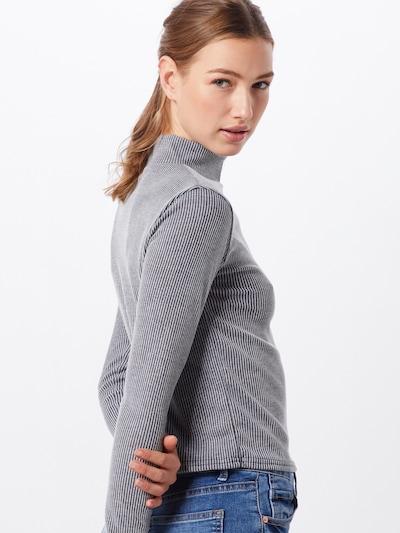 Missguided Shirt 'STRIPE GROWN ON NECK TOP' in de kleur Donkergrijs: Achteraanzicht
