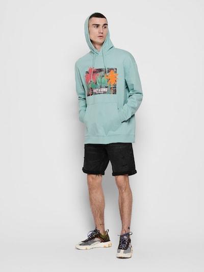 Only & Sons Sweatshirt in mint / mischfarben: Frontalansicht