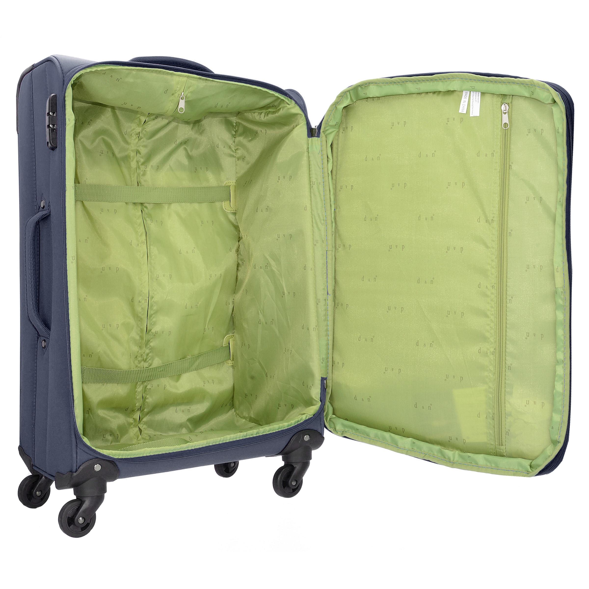 D&N Kofferset in nachtblau / hellgrün