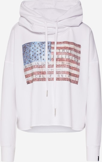 True Religion Sweatshirt 'HOODY CROP AMERICAN' in de kleur Wit, Productweergave