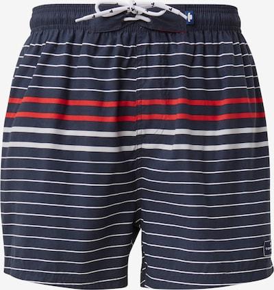 TOM TAILOR Kupaće hlače 'Simon' u mornarsko plava / crvena / bijela, Pregled proizvoda