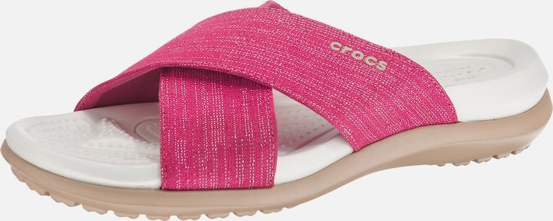 Crocs Capri Shimmer Xband Sandal W Komfort-Pantoletten