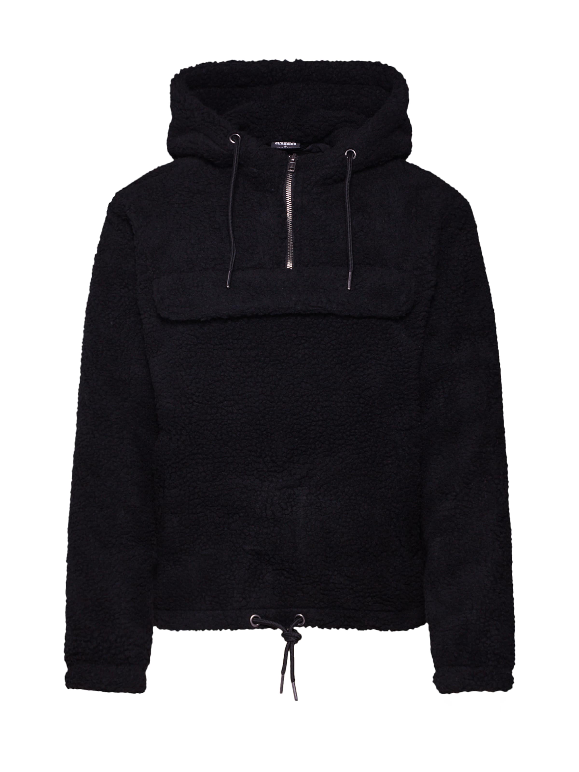 Classics Urban Pull Hoody' 'ladies Sherpa shirt Over Sweat En Noir jMVLzpqUGS