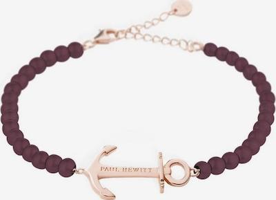 Paul Hewitt Armband in rosegold / burgunder, Produktansicht