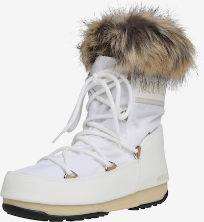 MOON BOOT Snowboots 'MOON BOOT MONACO LOW WP 2' in de kleur Beige / Wit, Productweergave