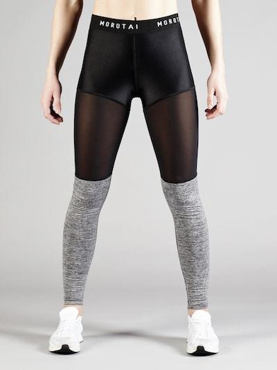 MOROTAI Sport-Leggings 'Bloc' in graumeliert / schwarz, Produktansicht