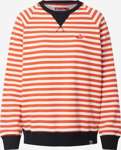 Derbe Sweatshirt in de kleur Crème / Oranjerood / Zwart, Productweergave