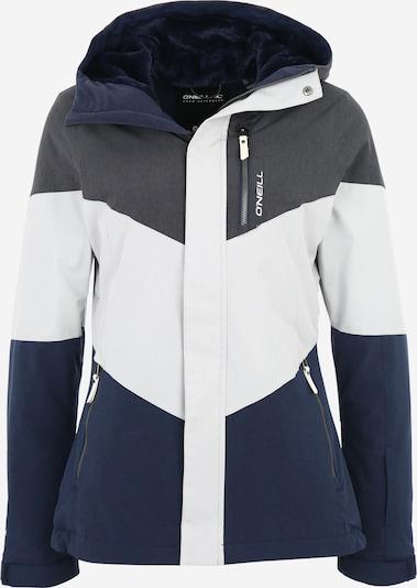 O'NEILL Sportjacke 'Coral' in nachtblau / grau / weiß: Frontalansicht