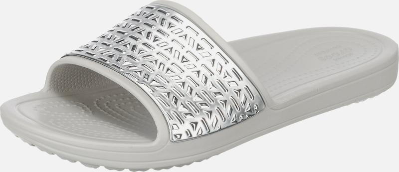 Crocs Sloane Graphic Etched Slide W Komfort-Pantoletten