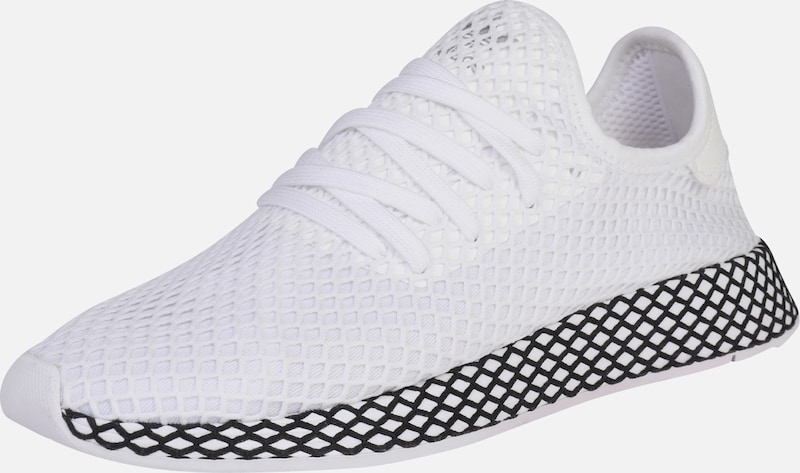 heiß adidas Deerupt Runner W Schuhe weiß pink adidas Deerupt