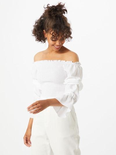 NA-KD Koszulka 'Pamela' w kolorze białym, Podgląd na modelu(-ce)