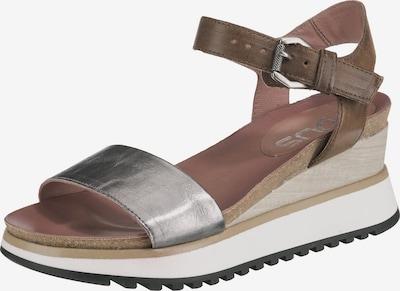 MJUS Sandalen in braun / silber, Produktansicht