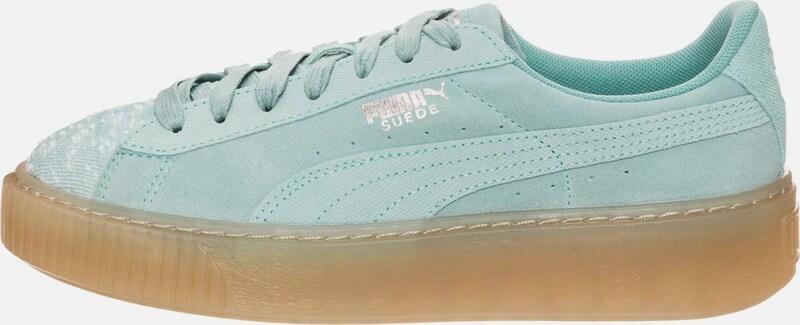 PUMA  Suede Platform Pebble  Sneaker Damen