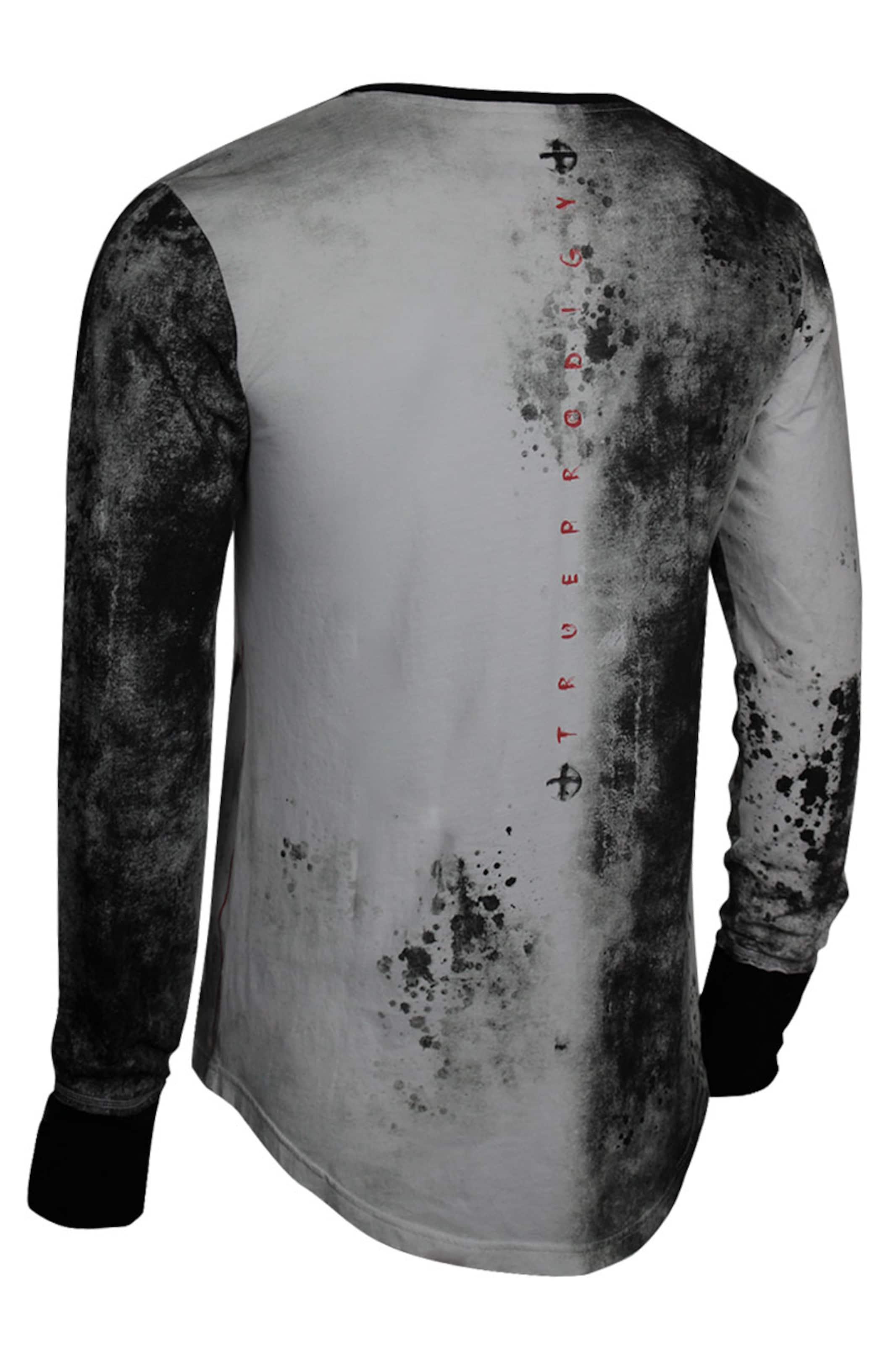 RotSchwarz Shirt In Trueprodigy In Trueprodigy RotSchwarz Shirt Weiß yvmwO08Nn
