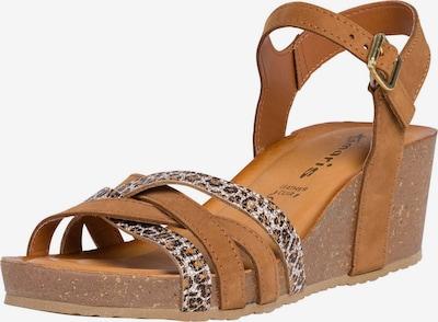 TAMARIS Strap sandal in cognac / grey, Item view