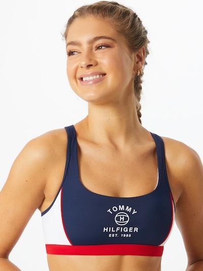 Tommy Hilfiger Underwear Bikinitop in dunkelblau / rot / weiß, Modelansicht
