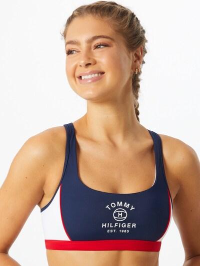 Tommy Hilfiger Underwear Bikiinitopp tumesinine / punane / valge, Modellivaade